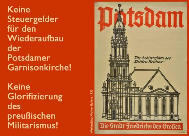 Keine Steuergelder für die Garnisonkirche
